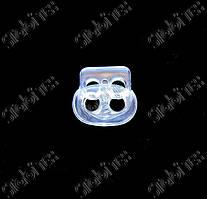 Фиксатор овальный на 2 дырки маленький (чанта стопер) прозрачный