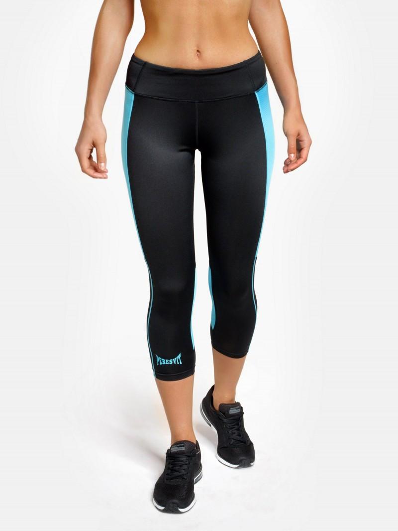 Женские компрессионные лосины Peresvit Air Motion Women's Leggings Black Aqua