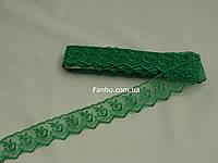 Кружево зеленое, ширина 4 см(1упаковка-10ярдов)