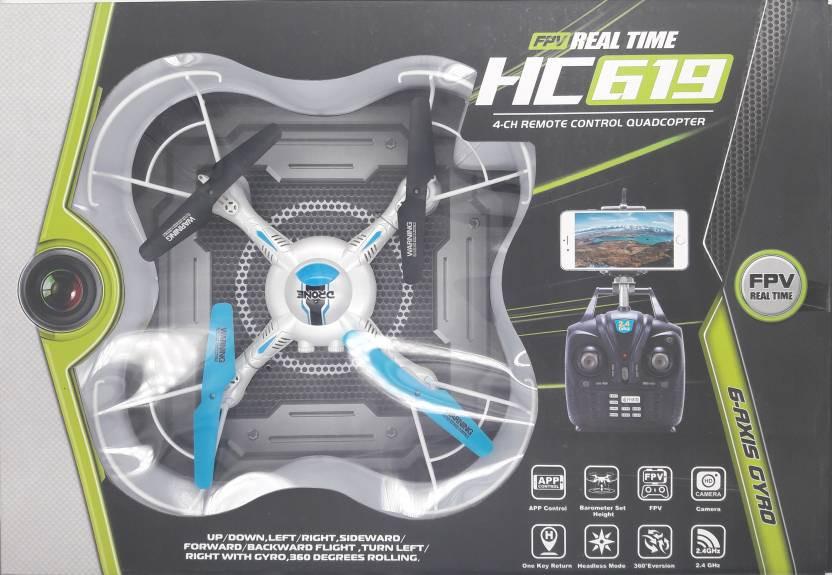 Квадрокоптер дрон HD видеокамера с WiFi для FPV, c подсветкой, 34х34 см  НС619