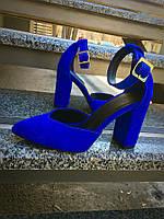 Шикарные замшевые туфли на каблуке, фото 1