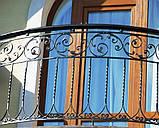 Кованые ограждения террас, лестниц,балконов, фото 3