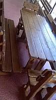 Деревянные брашированные столы, фото 1