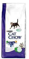 Сухой корм для кошек Cat Chow (Кэт Чау) Feline 3 в 1 с индейкой 15 кг