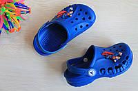 Синие кроксы для мальчика с супергероем тм Vitaliya р.20-29,32-35
