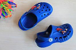 Синие кроксы для мальчика с супергероем тм Vitaliya р.20-21,30-35