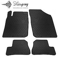 Резиновые коврики Stingray Стингрей Пежо 206 1998- Комплект из 4-х ковриков Черный в салон. Доставка по всей Украине. Оплата при получении