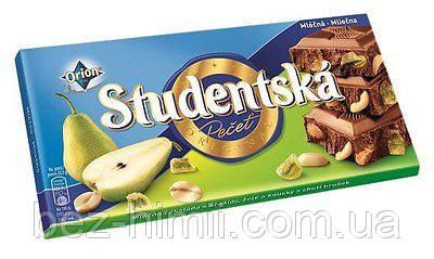 Шоколад из Чехии. 180 грамм, в ассортименте.