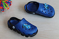 Синие кроксы для мальчика с героем детская пляжная обувь тм Vitaliya р.20-28,5,31-31,5