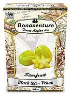 Чай Bonaventure чёрный среднелистовой с карамболем 100 г.