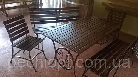 Кованый стол стул, фото 2