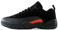 Баскетбольные кроссовки Nike Air Jordan 12 Retro Low Black/Orange, Найк Аир Джордан 12 черные