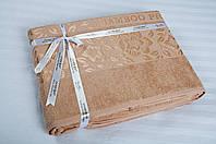 Простынь махровая Bamboo - Cicek 200х220cм персик Cestepe
