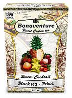 Чай Bonaventure чёрный среднелистовой с тропическими фруктами 100 г.