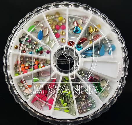 Заклепки карусель цветные фигурки( кубики, лепестки, кружочки, звездочки), фото 2