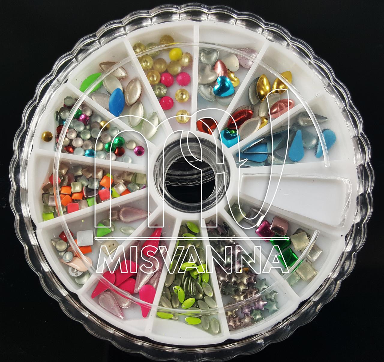 Заклепки карусель цветные фигурки( кубики, лепестки, кружочки, звездочки)