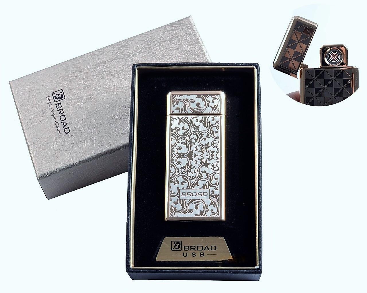 "Спиральная USB зажигалка ""Broad"" №4850-3, двухсторонняя спираль накаливания, в подарочной коробке"