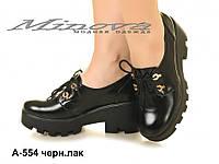 Туфли женские, натуральный лак