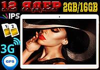Мощный планшет телефон Jeka, 12 ядер, 10'', 2Gb RAM / 16 Gb Rom, GPS, 2 sim, 3G. Гарантия 2 года