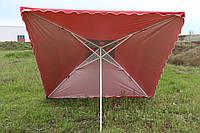Зонт торговый 2х 2м с серебряным напылением, клапаном