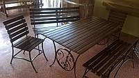 Кованые столы и лавки