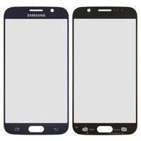 Стекло корпуса для мобильного телефона Samsung G920F Galaxy S6, 2.5D, синее