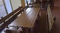 Деревянные столы для бара
