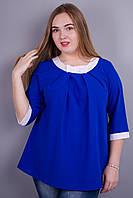 Блуза супер больших размеров Рената  электрик