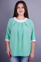 Блуза больших размеров Рената мята