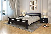 Двухспальная деревьяная кровать Соната