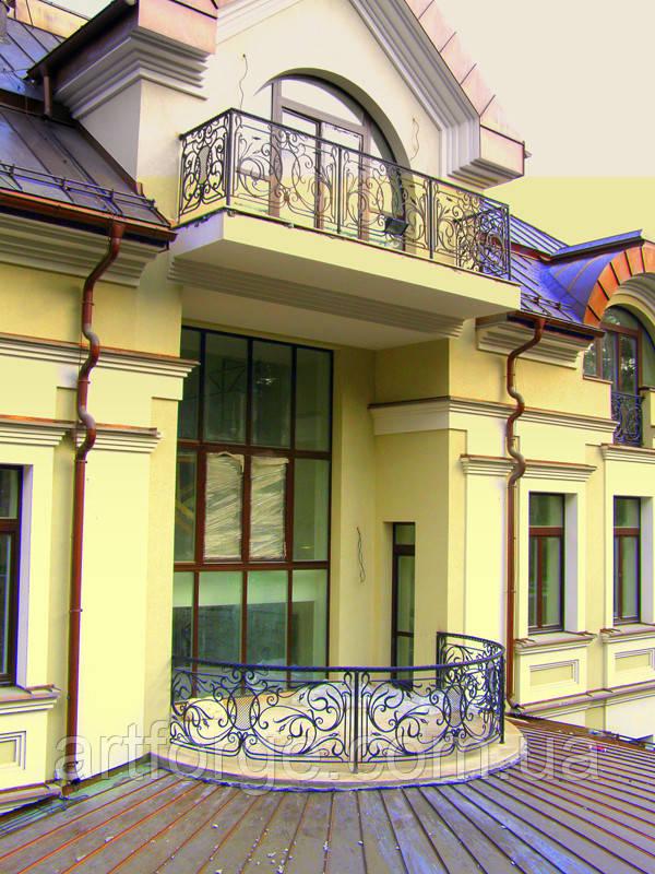 Ковані огорожі балконів, терас, сходів