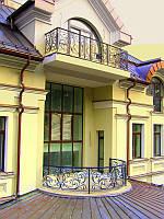 Кованые ограждения балконов, террас, лестниц