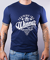 Мужская футболка WINNER однотонная 100 % хлопок