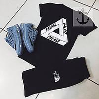 Комплект летний спортивный Шорты + Футболка + СКИДКА! Черный