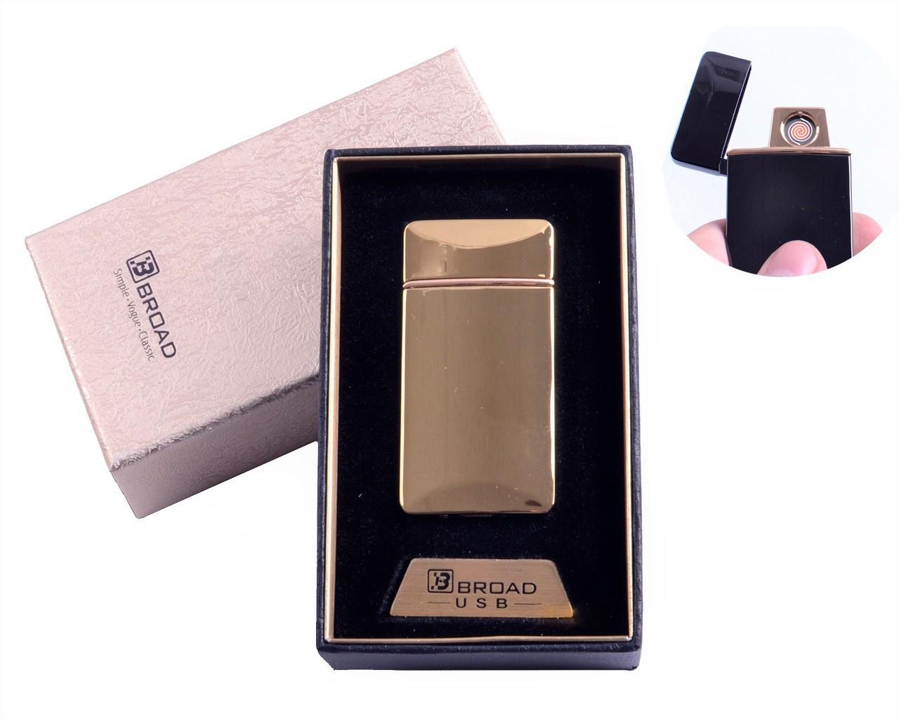 """Спиральная USB зажигалка """"Broad"""" №4851 Gold, отличный подарок, практичное приобретение, безотказная работа"""