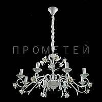 Люстра классическая на 8 лампочек W-G (бело-золотая) P13-RM6009/8/W-G