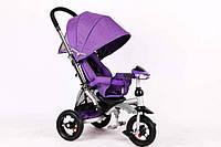 Велосипед-коляска Azimut T350 Crosser (надувное колесо) фиолетовый