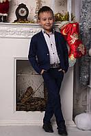 """Костюм """"Лен"""" брюки + пиджак, подросток на рост от 134 до 158 см"""