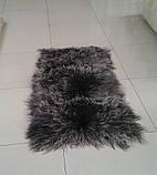 Красивыя мягкие и пушистые коврики из ламы серо пепельного цвета, фото 2