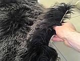 Красивыя м'які і пухнасті килимки з лами сіро-попелястого кольору, фото 3