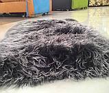 Красивыя м'які і пухнасті килимки з лами сіро-попелястого кольору, фото 4
