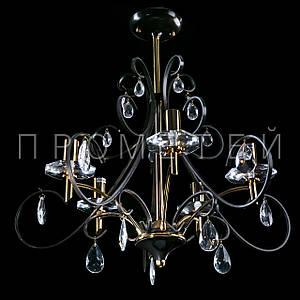 """Класична люстра """"свічка"""" на 5 лампочок P3-36660/5/PG"""