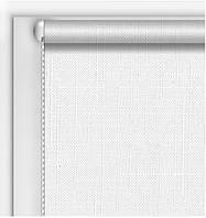 Готовые рулонные шторы Лен Белый