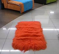 Мягкие коврики из длинной шерсти оранжевая лама