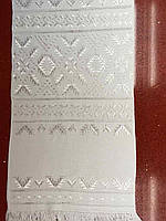 Рушник вишитий біла гладь ручної роботи 106*33 см домоткане полотно
