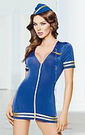 Ролевой костюм - Stewardess, blue, M/L