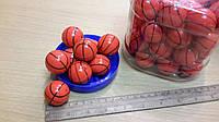 """Мячик-попрыгунчик /Мин.заказ 30шт/в уп.60шт/""""баскетбольный"""" среднего размера."""