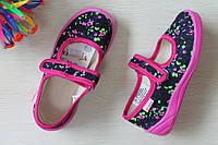 Тапочки в садик на девочку, текстильная обувь Vitaliya Виталия Украина р. 28, 28,5, 29, 31, 31,5.