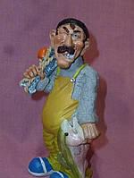 Рыбак веселая статуэтка фигурка сувенир 14,5 см высота
