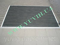 Придверная решетка Лен резина+щетка 700х500мм. наружное обрамление